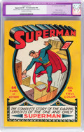 Golden Age (1938-1955):Superhero, Superman #1 (DC, 1939) CGC Apparent VF- 7.5 Extensive (P) Off-white to white pages....