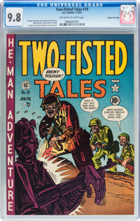 Two-Fisted Tales #19 Gaines File pedigree 4/10 (EC, 1951) CGC NM/MT 9.8 Off-white to white pages