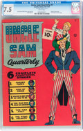 Golden Age (1938-1955):Superhero, Uncle Sam Quarterly #1 (Quality, 1941) CGC VF- 7.5 White pages....