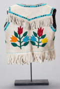 American Indian Art:Beadwork and Quillwork, A PLATEAU BOY'S BEADED HIDE VEST. c. 1920...