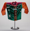 American Indian Art:Jewelry and Silverwork, A NAVAJO GIRL'S VELVETEEN BLOUSE WITH SILVER JEWELRY. c. 1940...