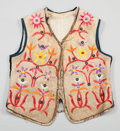 American Indian Art:Beadwork and Quillwork, A SIOUX BOY'S QUILLED HIDE VEST. c. 1890...