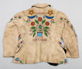 American Indian Art:Beadwork and Quillwork, A SIOUX BOY'S PICTORIAL BEADED HIDE JACKET. c. 1890...