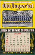 """Football Collectibles:Others, 1946 Green Bay Packers """"Old Imperial"""" Promotional Calendar - From Bruce Smith Estate...."""