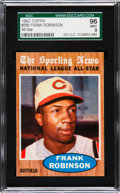 Baseball Cards:Singles (1960-1969), 1962 Topps Frank Robinson All-Star #396 SGC 96 Mint 9 - Pop Two,None Higher....