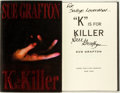 "Books:Mystery & Detective Fiction, Sue Grafton. SIGNED. ""K"" is for Killer. New York: Holt,1994. First edition. Signed. Publisher's binding in dust jac..."