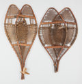 American Indian Art:Wood Sculpture, TWO PAIRS OF CREE SNOW SHOES... (Total: 2 )