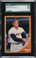 Baseball Cards:Singles (1960-1969), 1962 Topps Willie Mays #300 SGC 96 Mint 9 - Pop Two, None Higher!...