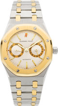 Timepieces:Wristwatch, Audemars Piguet Royal Oak Steel & Gold Gent's Automatic Day-Date Wristwatch. ...