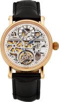 "Timepieces:Wristwatch, Chronoswiss Ref CH 3121 SR Rose Gold ""Skeletonized RégulateurTourbillon"" No. 03, circa 2002. ..."