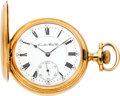 Timepieces:Pocket (post 1900), Hamilton 14k Gold 21 Jewel Grade 961, circa 1902. ...