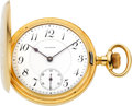 Timepieces:Pocket (post 1900), Waltham American Watch Co. 23 Jewel Gold Bridge Model PresentationWatch, circa 1906. ...