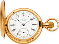 Timepieces:Pocket (pre 1900) , E. Howard & Co. Boston, Massive Gold Series IV, circa 1882. ...