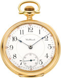Timepieces:Pocket (post 1900), Waltham Pristine Gold 23 Jewel Riverside Maximus, circa 1907. ...