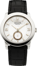 Timepieces:Wristwatch, Rolex Ref. 5240 Cellini Cellinium Gent's Platinum WatchMother-of-Pearl Dial, circa 2006. ...