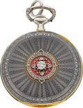 Timepieces:Pocket (post 1900), Vacheron Constantin Fine Gold, Enamel & Diamond Pendant Watch, circa 1912. ...