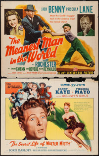 """The Meanest Man in the World and Other Lot (20th Century Fox, 1943). Half Sheets (2) (22"""" X 28""""). Comedy..."""