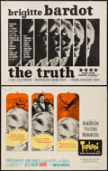 "Movie Posters:Foreign, The Truth & Other Lot (Kingsley International, 1960). Half Sheets (2) (22"" X 28""). Foreign.. ... (Total: 2 Items)"