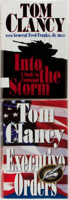 Tom Clancy. SIGNED. Executive Order and Into the Storm. New Yo
