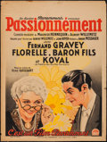 """Movie Posters:Foreign, Passionnement (Paramount, 1932). French Affiche (23.5"""" X 31.5""""). Foreign.. ..."""