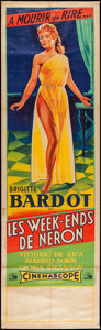 """Movie Posters:Foreign, Nero's Mistress (Les Films Marceau, 1962). French Pantalon (23"""" X 78""""). Foreign.. ..."""