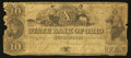 Obsoletes By State:Ohio, Zanesville, OH- The State Bank of Ohio, Muskingum BranchCounterfeit $10 Sep. 18, 1849 UNL Wolka 2949-26. ...