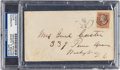 Autographs:Others, 1860's General George Armstrong Custer Signed Envelope....