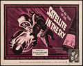 "Movie Posters:Science Fiction, Satellite in the Sky (Warner Brothers, 1956). Half Sheet (22"" X 28""). Science Fiction.. ..."