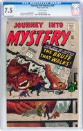 Silver Age (1956-1969):Horror, Journey Into Mystery #65 (Marvel, 1961) CGC VF- 7.5 Off-whitepages....