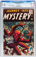 Silver Age (1956-1969):Horror, Journey Into Mystery #64 (Marvel, 1961) CGC VF- 7.5 Off-whitepages....