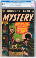 Golden Age (1938-1955):Horror, Journey Into Mystery #4 (Marvel, 1952) CGC VG+ 4.5 Off-white towhite pages....