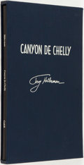 Books:World History, Tony Hillerman. SIGNED. Canyon de Chelly. Illustrations by Ernest Franklin. California: James Cahill, 1998. First ed...