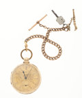 Timepieces:Pocket (pre 1900) , Taylor & Sons Liverpool 18k Gold Lever Fusee Pocket Watch. ...