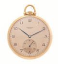 Timepieces:Pocket (post 1900), Longines 18k Pink Gold Pocket Watch. ...