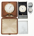 Timepieces:Other , Waltham Premier 8 Days & Hampden & Girard Perregaux Travel Clocks Runners. ... (Total: 3 Items)