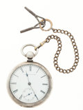 Timepieces:Pocket (pre 1900) , E. Howard & Co. Series 3 Early Key Wind Original Silver Case....