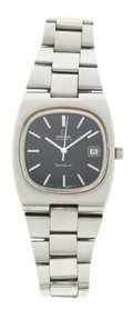 Timepieces:Wristwatch, Omega Stainless Steel Automatic Wristwatch. ...