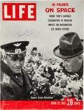 Explorers:Space Exploration, Yuri Gagarin Signed 1961 LIFE Magazine Cover. ...