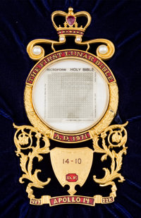 Apollo 13 Flown and Apollo 14 Lunar Module Flown Complete Lunar Bible Copy Number 14-10, with Certificate of Authenticit...