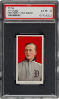 Baseball Cards:Singles (Pre-1930), 1909-11 T206 Sweet Caporal Ty Cobb, Red Portrait PSA EX-MT 6. ...