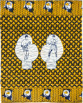 Boxing Collectibles:Memorabilia, 1974 Muhammad Ali vs. George Foreman Rumble in the Jungle Tapestry....
