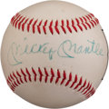 Autographs:Baseballs, 1969 Mickey Mantle Signed Day to Remember Album & Single SignedBaseball....