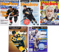 Hockey Collectibles:Publications, 2002-04 Signed Beckett Hockey Magazines Lot of 37....
