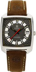 Timepieces:Wristwatch, Omega Vintage Steel Seamaster Automatic. ...