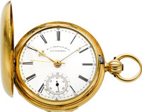 M.I. Tobias Rare Two Train Independent Dead Beat Seconds Gold Watch Presented To Henry Kayser, circa 1857