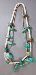 American Indian Art:Jewelry and Silverwork, TWO PUEBLO TURQUOISE NUGGET NECKLACES... (Total: 2 )