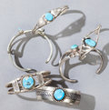 American Indian Art:Jewelry and Silverwork, SIX NAVAJO CHILD'S SILVER AND TURQUOISE BRACELETS... (Total: 6 )