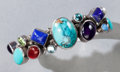 American Indian Art:Jewelry and Silverwork, A NAVAJO SILVER AND MULTI STONE BRACELET...