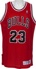 Basketball Collectibles:Uniforms, 1992-93 Michael Jordan Game Worn Chicago Bulls Jersey WithProvenance. ...