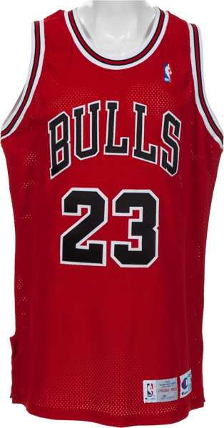 newest 7e2ed ac6a2 1992-93 Michael Jordan Game Worn Chicago Bulls Jersey With ...